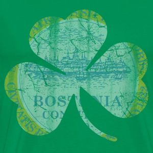 Boston Irish Flag Shamrock Hoodies - Men's Premium T-Shirt