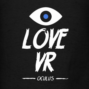 LOVE VR (Black) - Men's T-Shirt
