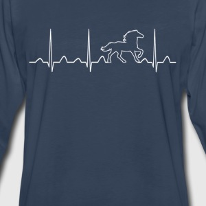HORSE HEARTBEAT - Men's Premium Long Sleeve T-Shirt