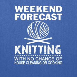 WEEKEND FORECAST KNITTING - Tote Bag