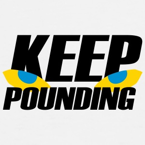 Keep Pounding Eyes Caps - Men's Premium T-Shirt