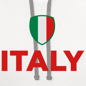 National Flag of Italy Tank Tops - Contrast Hoodie