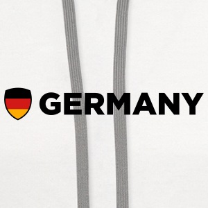 National Flag of Germany Caps - Contrast Hoodie