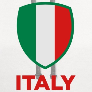 National Flag of Italy Long Sleeve Shirts - Contrast Hoodie