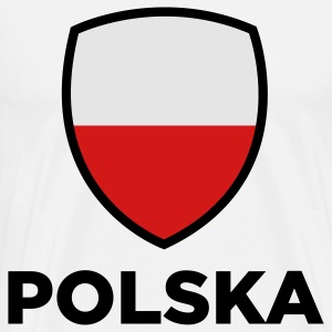 National Flag of Poland Long Sleeve Shirts - Men's Premium T-Shirt