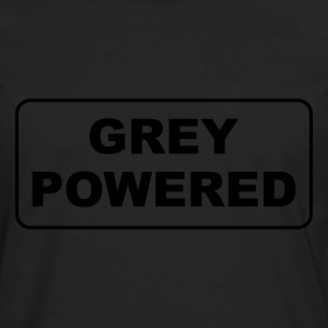 Grey Powered T-Shirts - Men's Premium Long Sleeve T-Shirt