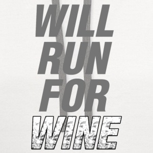 Will Run For Wine - Contrast Hoodie
