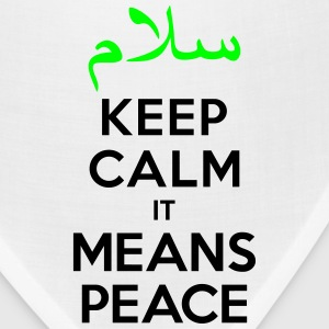 Keep calm it means Peace Tank Tops - Bandana