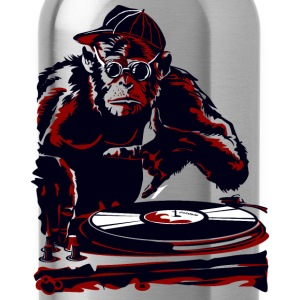 cartoon monkey dj - Water Bottle