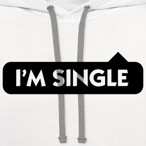 I m single Baby & Toddler Shirts - Contrast Hoodie