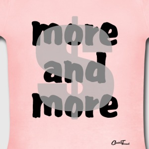 $-more and more Sweatshirts - Short Sleeve Baby Bodysuit