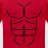 Sixpack six pack Abs T-Shirts - Men's T-Shirt by American Apparel