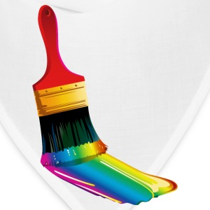 Paintbrush with paint splash - Bandana