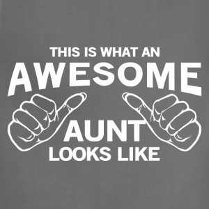 Awesome aunt Premium Tee - Adjustable Apron