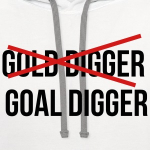 Gold digger Women's T-Shirts - Contrast Hoodie