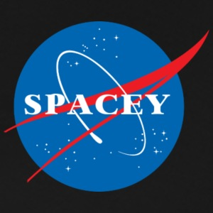 SPACEY NASA HOODIE - BLK - Men's Premium T-Shirt