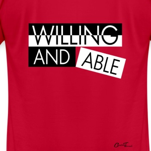 Liner-willing-n-able Sweatshirts - Men's T-Shirt by American Apparel