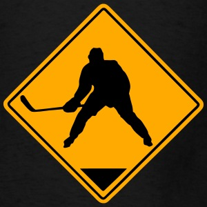 Hockey Road Sign Hoodies - Men's T-Shirt