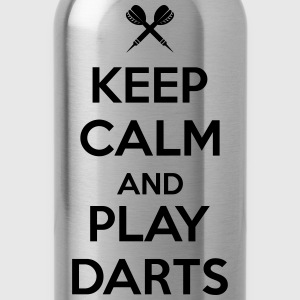 keep calm and play darts T-Shirts - Water Bottle