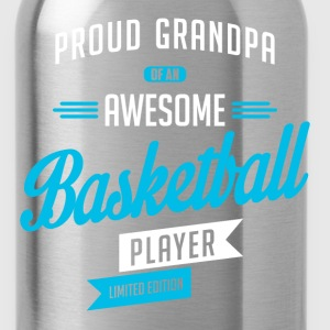 Grandpa Awesome Basketball b T-Shirts - Water Bottle