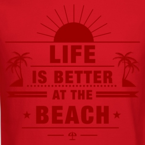 Life Is Better at Beach Women's T-Shirts - Crewneck Sweatshirt