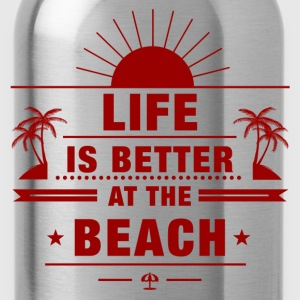 Life Is Better at Beach Women's T-Shirts - Water Bottle
