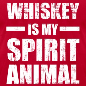 Whiskey Spirit Animal Long Sleeve Shirts - Men's T-Shirt by American Apparel