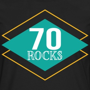 70th Birthday 70 Year Old Rocks Vintage T-Shirts - Men's Premium Long Sleeve T-Shirt