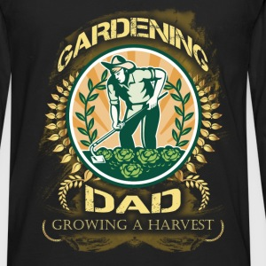 Gardening T-shirt - Gardening Dad, Growing Harvest - Men's Premium Long Sleeve T-Shirt