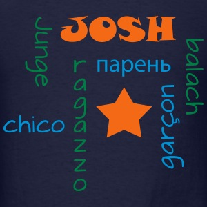 Boy hoodie, in 6 languages! - Men's T-Shirt
