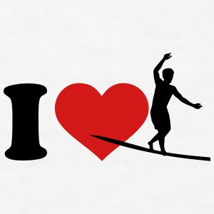 I love Slackline Mugs & Drinkware - Men's T-Shirt