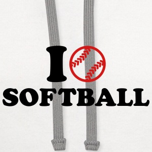 I love Softball Mugs & Drinkware - Contrast Hoodie