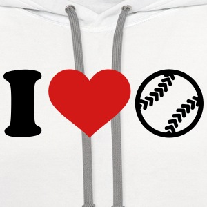 I love Softball Women's T-Shirts - Contrast Hoodie