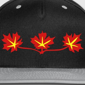 Red Maple Leaves Canadian Standard Symbol Zip Hoodies & Jackets - Snap-back Baseball Cap