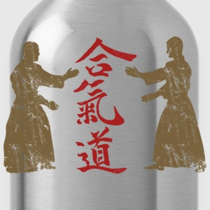 Aikido Distressed Design - Water Bottle