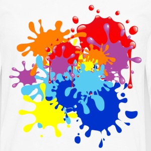 Paint Splatter T-Shirts - Men's Premium Long Sleeve T-Shirt