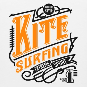Kitesurfing Retro Black Yellow Art - Men's Premium Tank