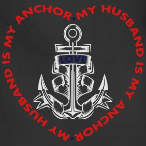 My Husband Is My Anchor Women's T-Shirts - Adjustable Apron