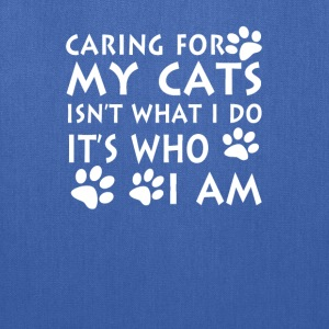 Caring for my cats - Tote Bag