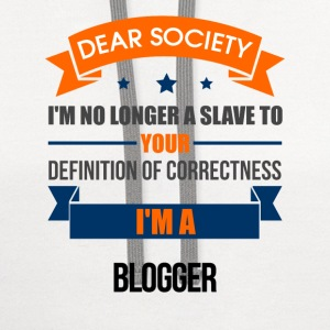 Blogger - Your Definition - Contrast Hoodie