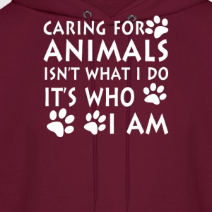 Caring for animals - Men's Hoodie