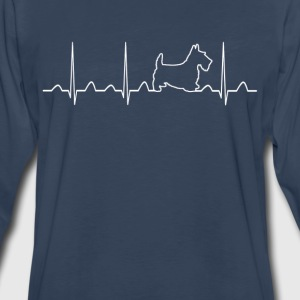 Scottish Terrier Heartbeat - Men's Premium Long Sleeve T-Shirt
