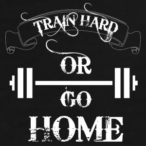 Train Hard Bodybuilding Mugs & Drinkware - Men's Premium T-Shirt