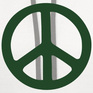 PEACE SIGN Polo Shirts - Contrast Hoodie