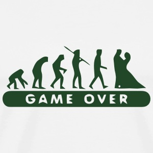 MARRIAGE - GAME OVER Long Sleeve Shirts - Men's Premium T-Shirt
