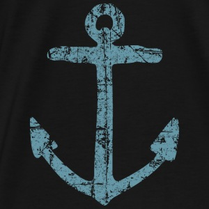 Anchor Vintage Blue Sailing Sailor Design Bags & backpacks - Men's Premium T-Shirt