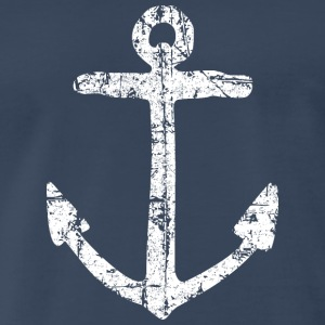Anchor Vintage White Sailing Sailor Design Tank Tops - Men's Premium T-Shirt