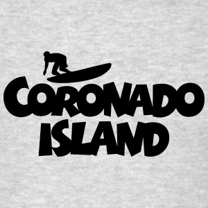 Coronado Island Surf Design for Californian Surfer Hoodies - Men's T-Shirt