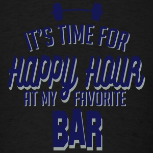 it's time for happy hour at my favorite bar C 2c Tank Tops - Men's T-Shirt
