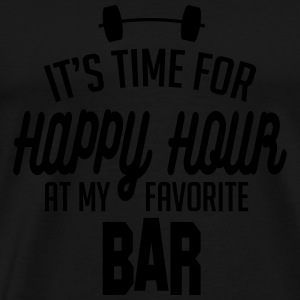 it's time for happy hour at my favorite bar C 1c Long Sleeve Shirts - Men's Premium T-Shirt